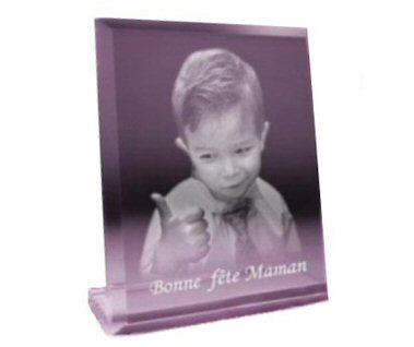 plaque avec support photo laser