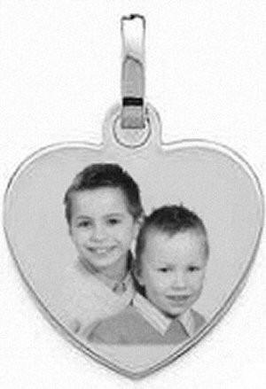 Médaille coeur en argent.