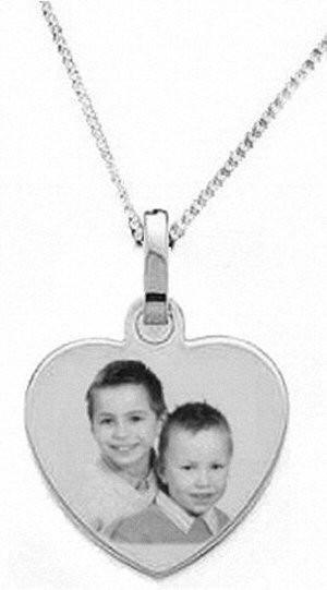 Médaillon coeur Argent avec la chaine 45cm