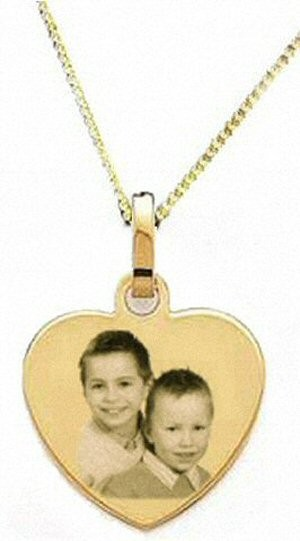 Médaillon Coeur Plaqué or avec la chaine 45cm