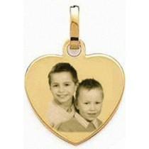 Médaille coeur en Plaqué or.