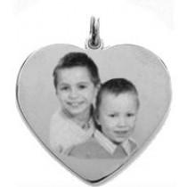 Médaille coeur Argent love.