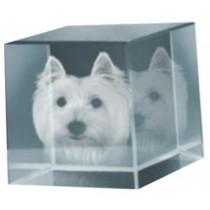 Cube photo gravé