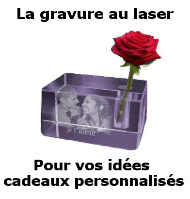 Fleur au laser